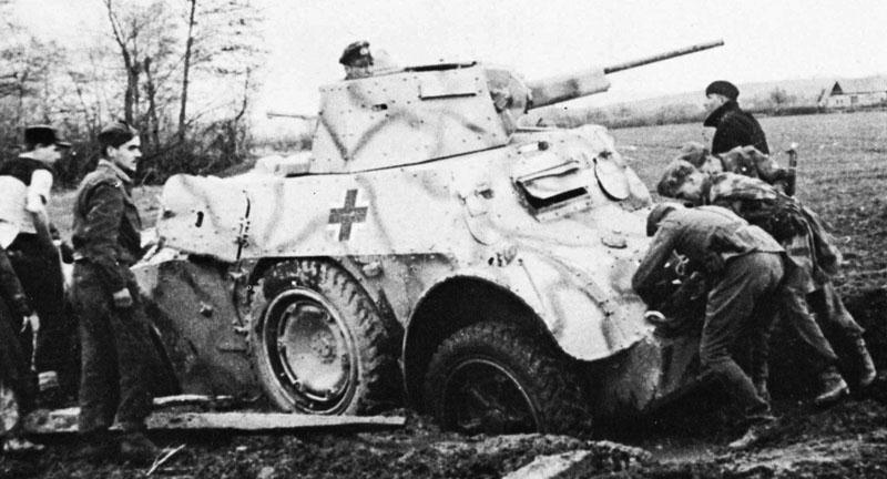 An AB41 With The Number 75 Painted On Turret